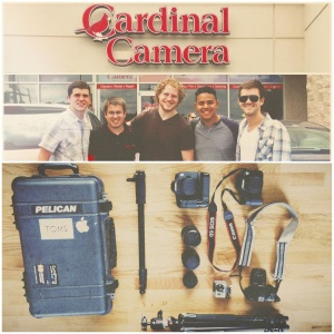 Officially sponsored by Cardinal Camera. Thanks to these guys, we have the cameras, lenses, tripods, GoPros etc. to capture our journey! Be ready for some footage.